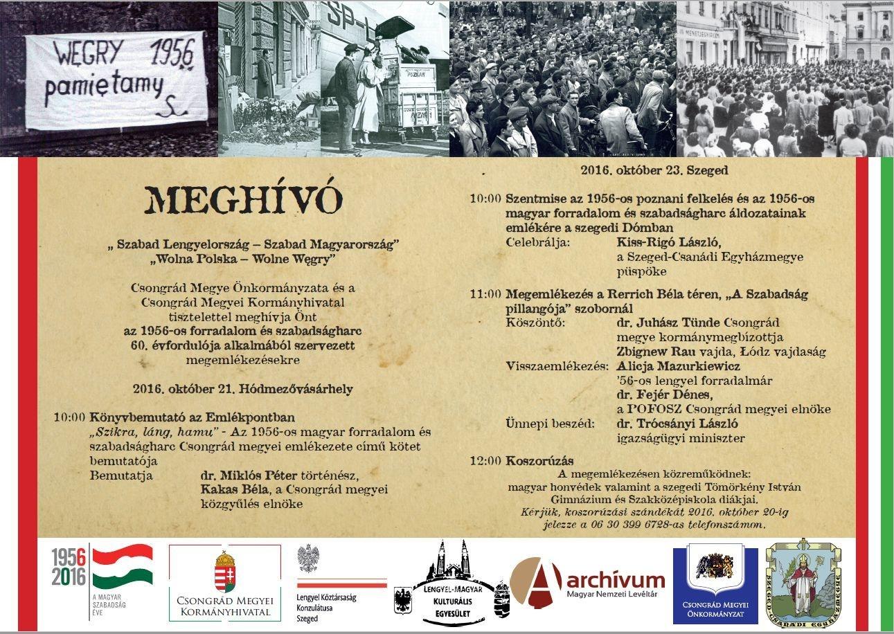 ILengyel-magyar közös megemlékezés Szeged, a forradalom 60. évfordulóján